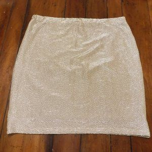 Golden Glitter Fabric, Party Mini-Skirt by 'H&M'